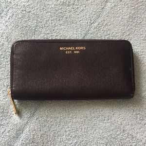 Solid black Michael Kors wallet
